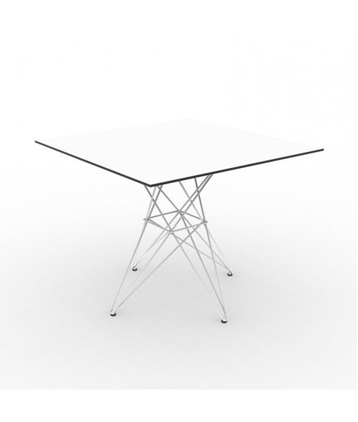 FAZ TABLE STAINLESS BASE 90x90x72