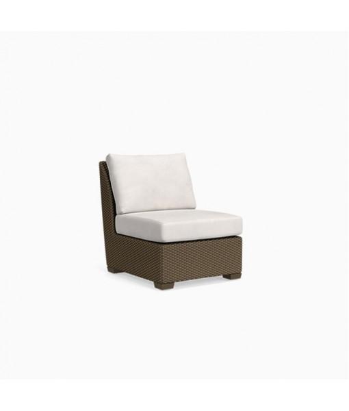 Fusion Center Armless Chair, Pillow Back