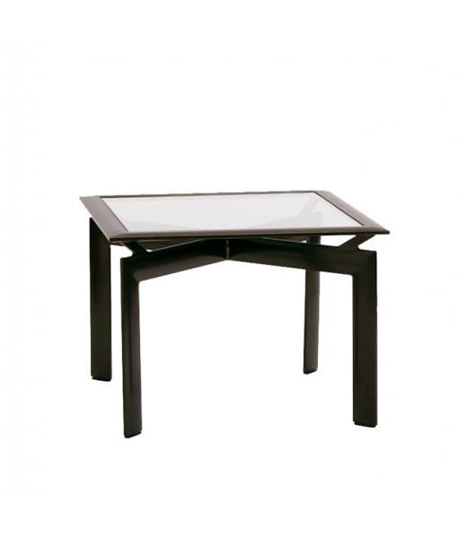 """Parkway 29"""" Square Corner Table, Glass ..."""