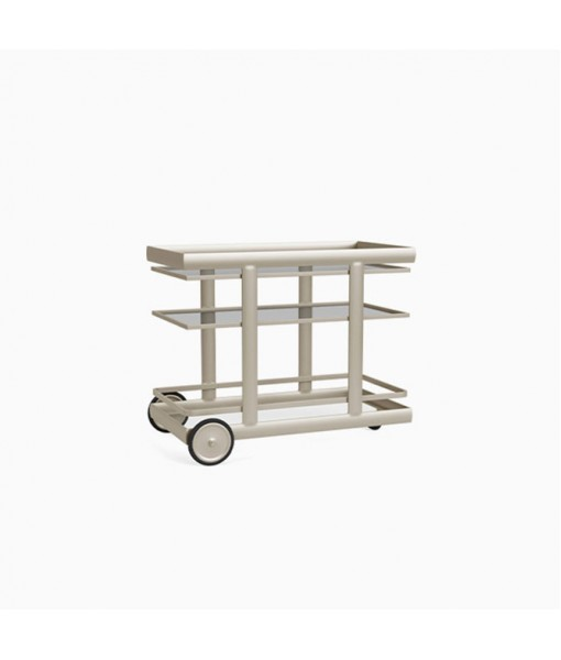 Parkway Serving Cart, Glass Top