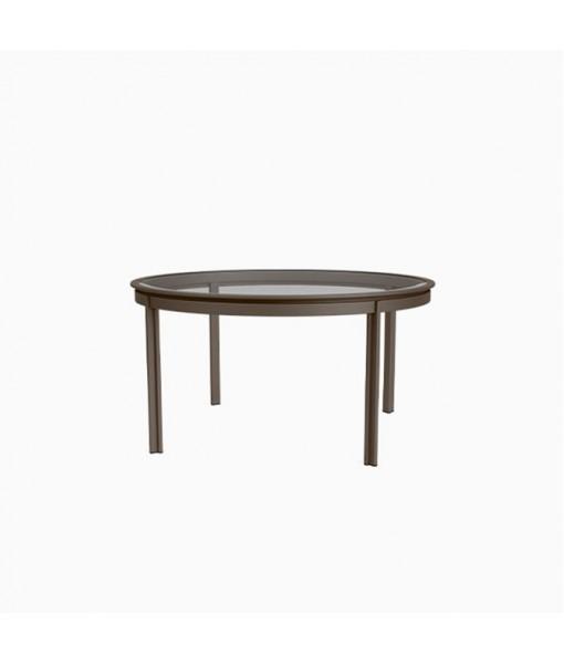 "Swim 54"" Round Dining Table, Glass ..."