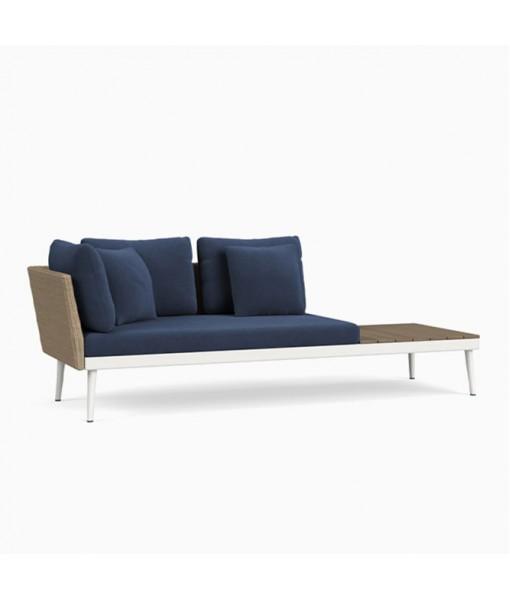 20TWENTY Left Arm Sofa with Driftwood ...