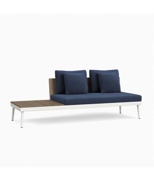 20TWENTY Right Armless Sofa with Driftwood ...