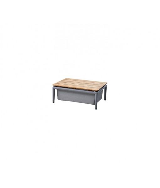 Conic box table 74x52 cm