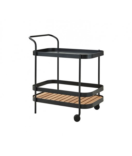 Roll bar trolley incl. teak table ...