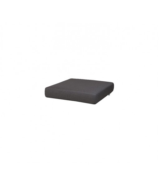 Chester footstool, cushion Black