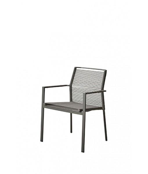Edge armchair, stackable