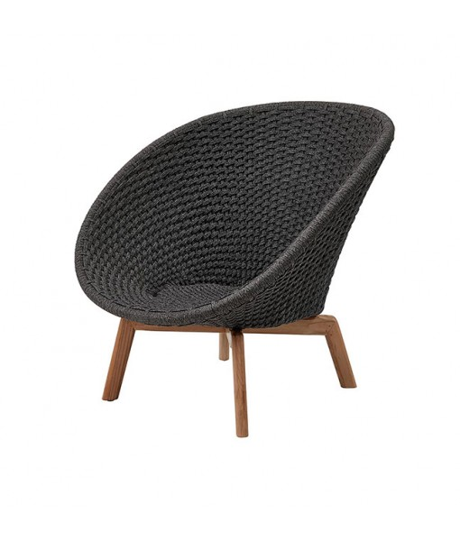 Peacock lounge chair w/ teak legs