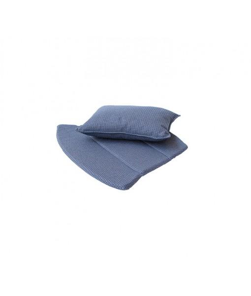 Breeze lounge chair, cushion set Blue