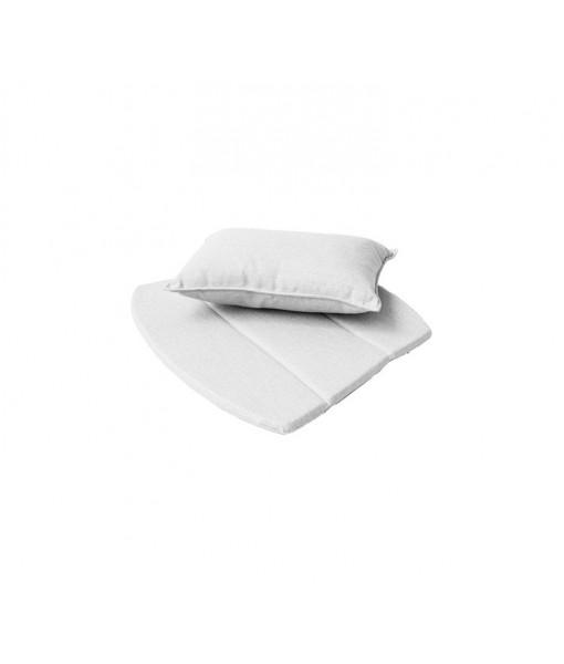 Breeze lounge chair, cushion set White