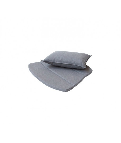 Breeze lounge chair, cushion set Grey