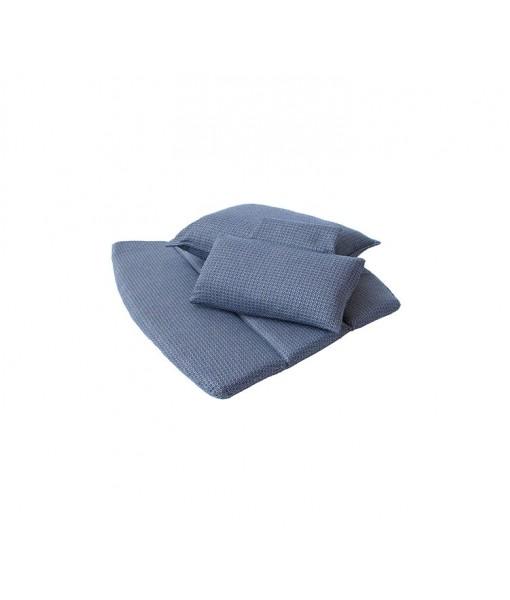 Breeze highback chair, cushion set Blue