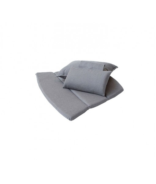 Breeze highback chair, cushion set Grey