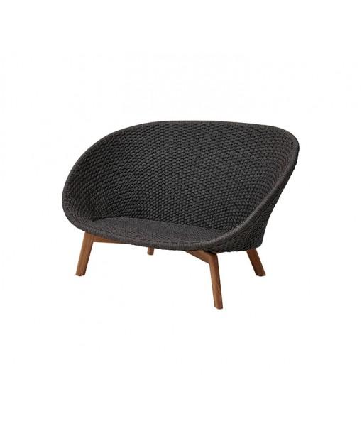 Peacock 2-seater sofa w/ teak legs
