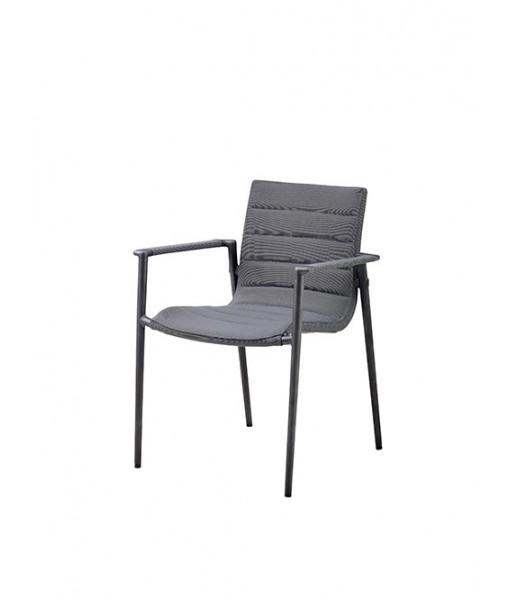 Core armchair, stackable