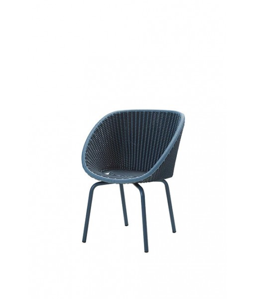 Peacock chair w/ aluminium legs, stackable