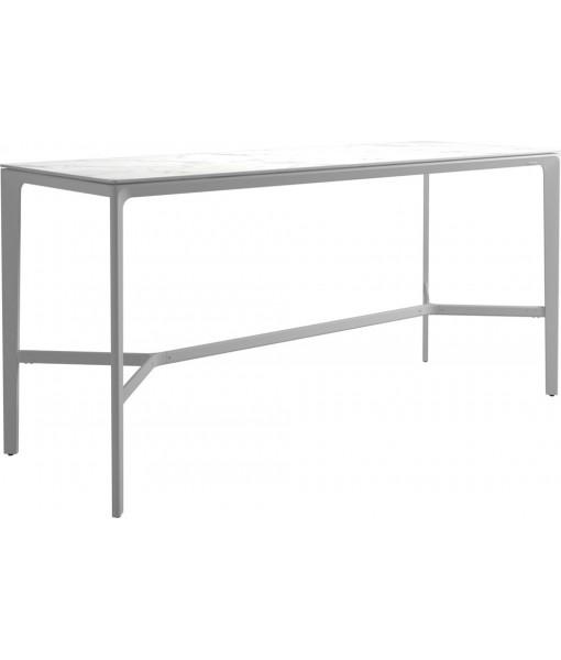 """CARVER Bar Table - 86.5""""L White ..."""