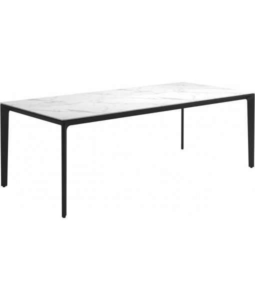 """CARVER Dining Table 86.6""""L Meteor / ..."""