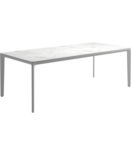 """CARVER Dining Table 86.5""""L White / ..."""