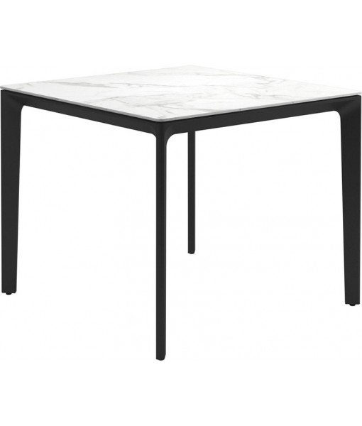 """CARVER Dining Table 35""""SQ Meteor / ..."""