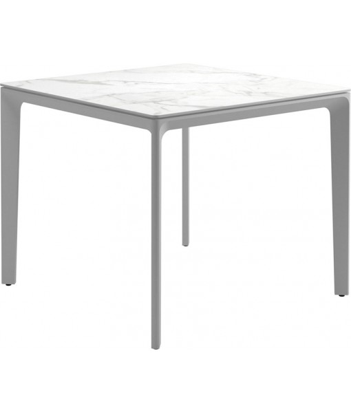 """CARVER Dining Table 35""""SQ White / ..."""