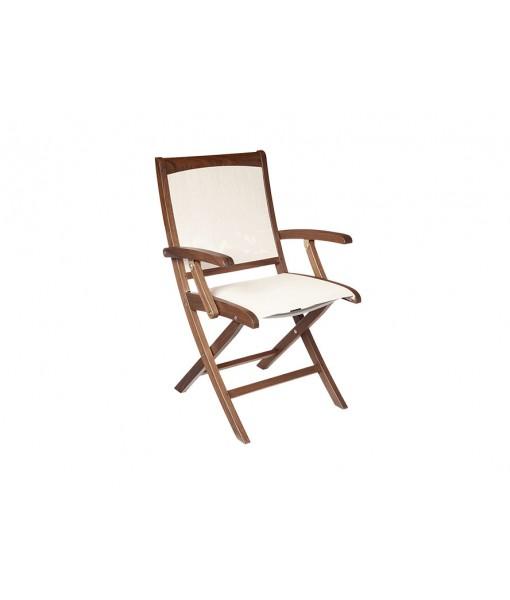 Topaz Folding Sling Arm Chair | ...