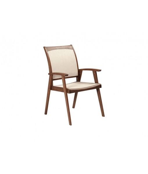 TOPAZ Sling Arm Chair | Beige