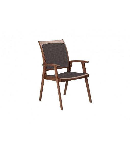 TOPAZ Sling Arm Chair | Brown