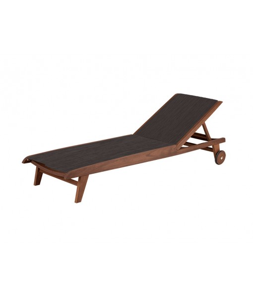 TOPAZ Sling Chaise Lounge | Brown