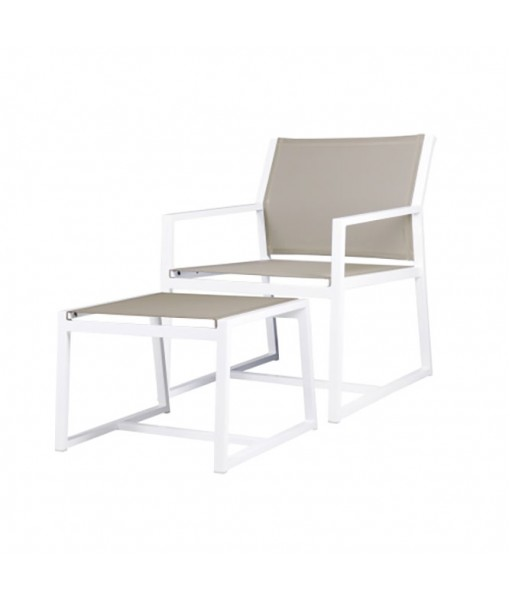 ALLUX casual chair + footrest