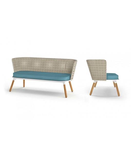 DAISY MAE Chat 2-Seater (Teak Legs)