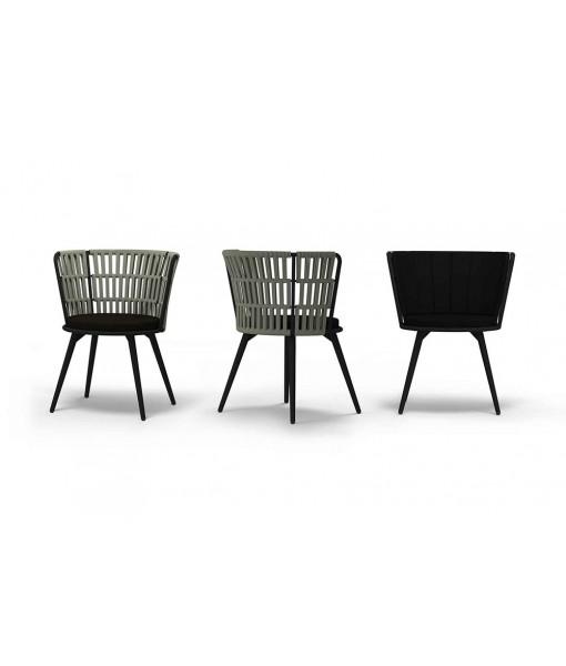 DAISY RAE Dining Chair (Alu Legs)