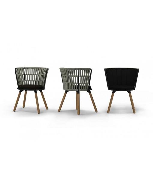 DAISY RAE Dining Chair (Teak Legs)