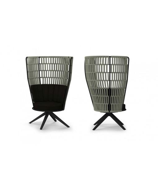 DAISY RAE Swivel Lounge Chair High-back
