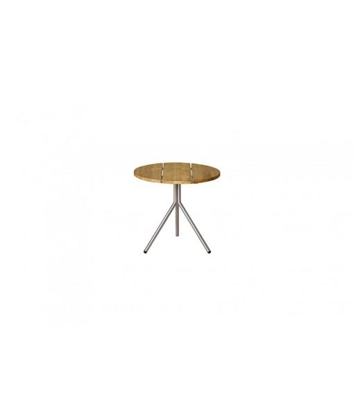 BONO side table (stainless steel/teak)