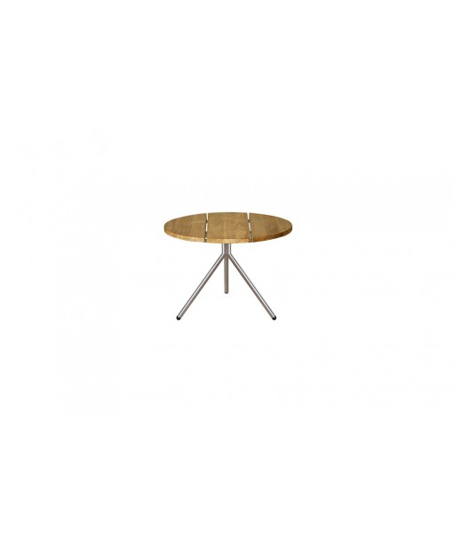BONO low table (stainless steel/teak)