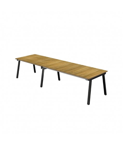 MAXXIMUS Extension Table Teak 84″-110″-135.5″ x ...