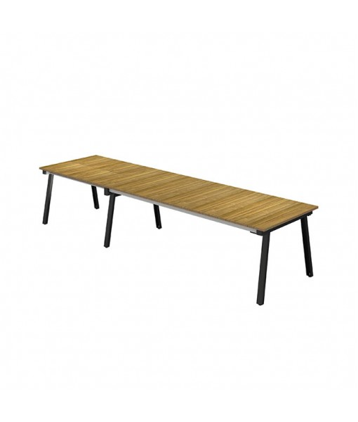 MAXXIMUS Extension Table Teak 96.5″-120″-143″-166.5″ x ...