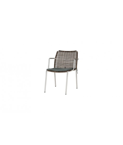 MANDA chair woven (stainless steel)