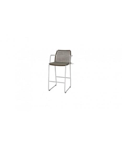 MANDA bar armchair (stainless steel)