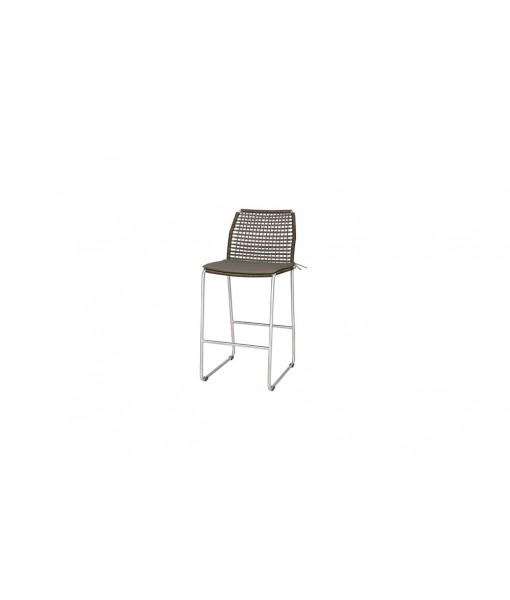 MANDA bar side chair (stainless steel)