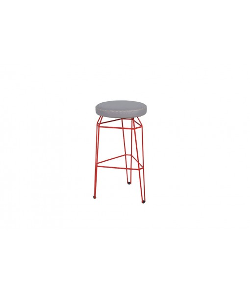 MATCH round bar stool (stamskin)