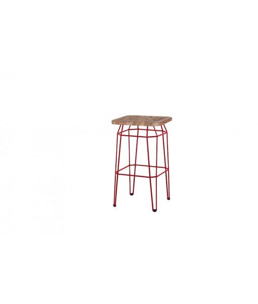 MATCH square bar stool (teak)