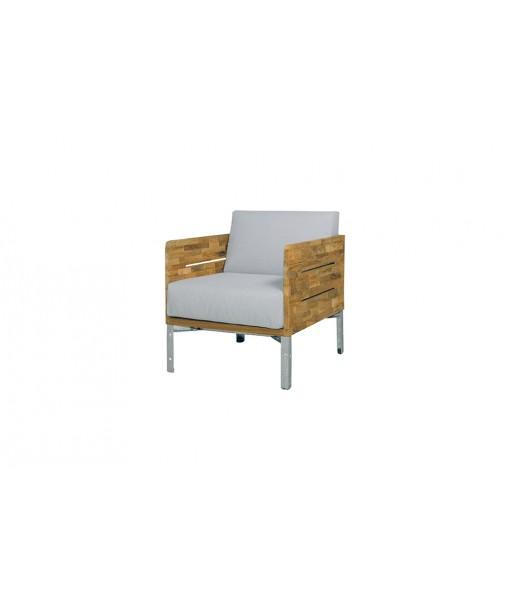 INDUSTRIAL lounge 1-seater (teak)
