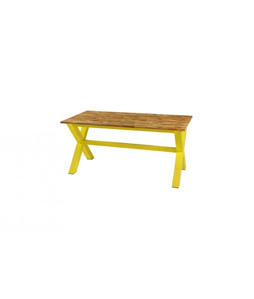 INDUSTRIAL x-style dining table 160 (alu)