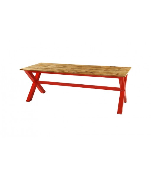 INDUSTRIAL x-style dining table 220 (alu)