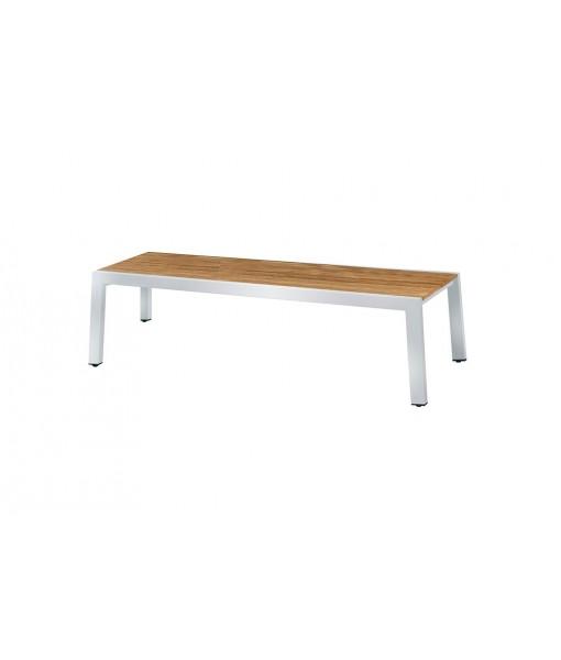 BAIA bench 145 (teak+stainless steel)