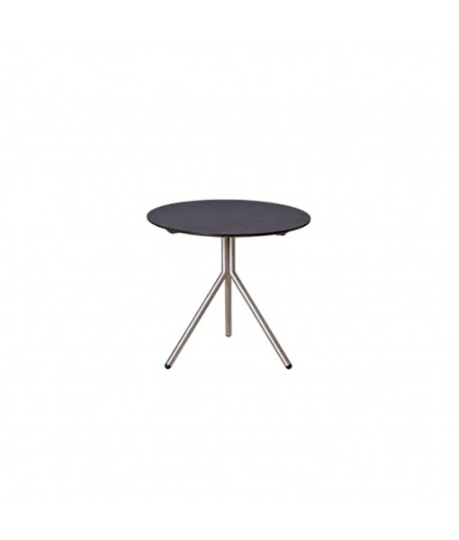 BONO side table (stainless steel/HPL)