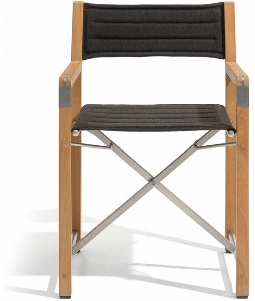 Cross chair - teak textiles ecru