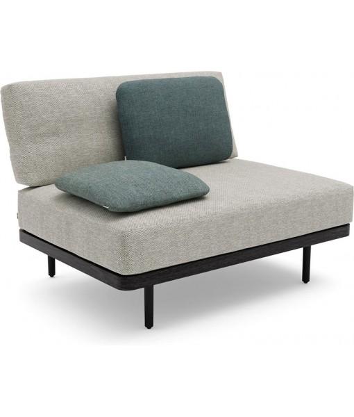 Flex Large middle seat teak nero ...